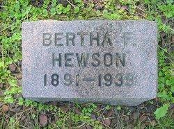 Bertha F. <I>Fonda</I> Hewson