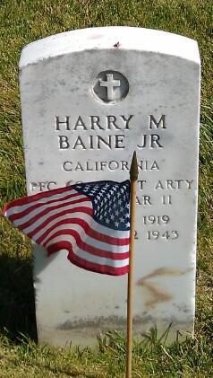 PFC Harry M Baine, Jr