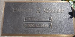 Harriet Z. <I>Zugschwerdt</I> Cardiff