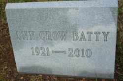 Ann <I>Crow</I> Batty