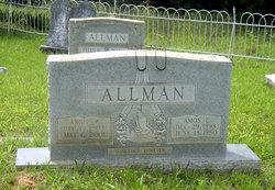 """Mary Ann """"Annie"""" <I>Perdue</I> Allman"""