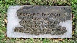 Pvt Edward DeKoch