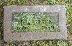 Carl D. Henderson