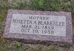 Rosetta Amelia <I>Kimbel</I> Blakeslee
