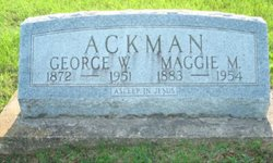 Maggie May <I>Robison</I> Ackman