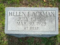 Frances Helen Ackman