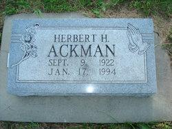 """Herbert Hoover """"Herb"""" Ackman"""
