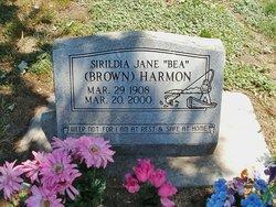 """Sirildia Jane """"Bea"""" <I>Northey</I> Brown Harmon"""