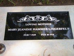 Mary Jeanine <I>Hammer</I> Lingerfelt