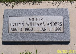 Evelyn Sarah <I>Williams</I> Anders