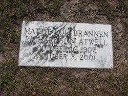 Mattie Lou <I>Brannen</I> Atwell