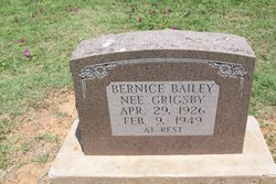 Bernice Lee <I>Grigsby</I> Bailey