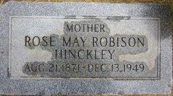 Rose May <I>Robison</I> Hinckley