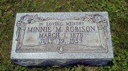 """Mina May """"Minnie"""" <I>Howard</I> Robison"""