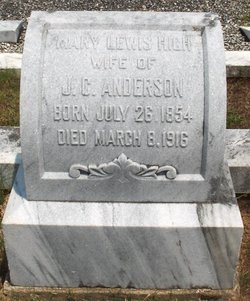 Mary Lewis <I>High</I> Anderson