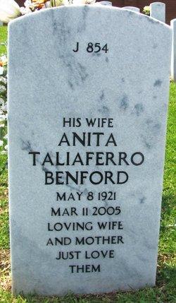Anita <I>Taliaferro</I> Benford