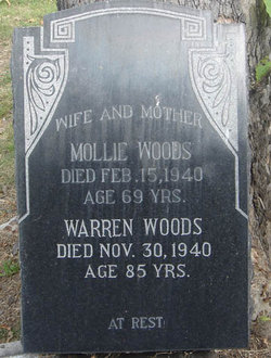 Mollie <I>Webb</I> Woods