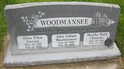 Mina Ellen <I>Livesey</I> Woodmansee