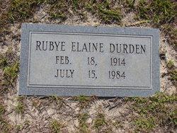 Rubye Elaine Durden