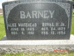 Alice Zobeda <I>Whitehead</I> Barney