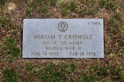 Miriam T Crowell