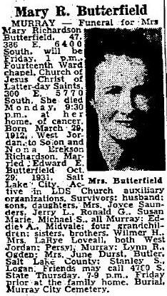 Mary <I>Richardson</I> Butterfield