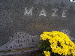 Hazel Elizabeth <I>Ritchey</I> Maze