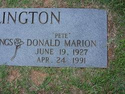 """Donald Marion """"Pete"""" Ellington"""