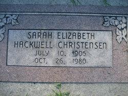 Sarah Elizabeth <I>Hackwell</I> Christensen