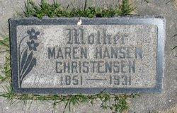 Maren <I>Rasmussen</I> Christensen