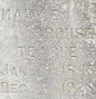 Mary Elizabeth <I>McCall</I> Crouse Teague