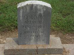 Infant son Gordon