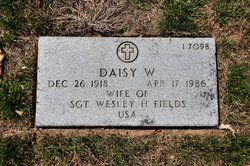 Daisy W Fields