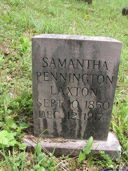 Samantha Jane <I>Pennington</I> Laxton