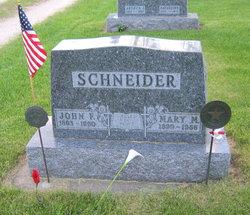 Mary M <I>McGreevy</I> Schneider