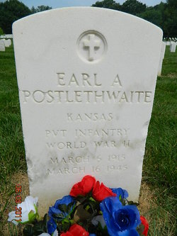 PVT Earl Alfred Postlethwaite