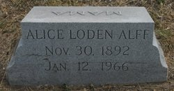Alice Mary <I>Loden</I> Alff