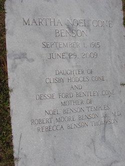 Martha Noel <I>Cone</I> Benson