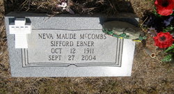 Neva Maude Sifford <I>McCombs</I> Ebner
