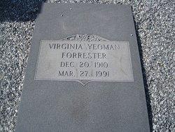 Virginia <I>Yeoman</I> Forrester