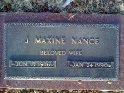 J. Maxine <I>DeVaney</I> Nance