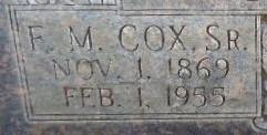Francis Martin Cox, Sr