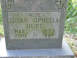 Susan Ophelia <I>Massey</I> Hurt