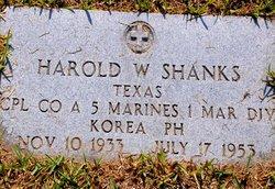 Corp Harold W. Shanks