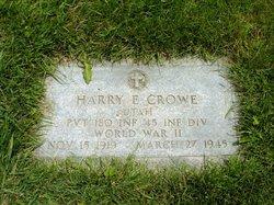 Pvt Harry Eugene Crowe
