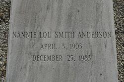 Nannie Lou <I>Smith</I> Anderson