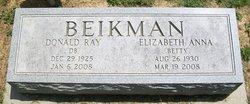 """Elizabeth Anna """"Betty"""" Beikman"""