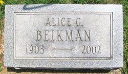 Alice Edna <I>Garriott</I> Beikman