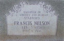 "Frances ""Fannie"" <I>Stafford</I> Nelson"