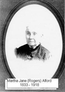 Martha Jane <I>Rogers</I> Alford